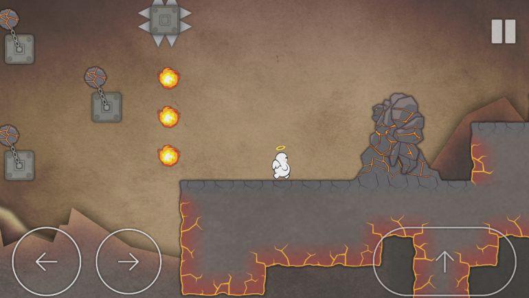 Oyun yazı ile uğraşmak yerine doğrudan dikenler ve ateş topları ile muhatap ediyor.