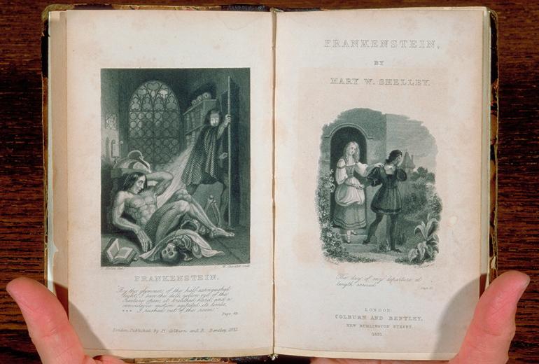 Frankenstein - The Modern Prometheus'un ilk baskısı