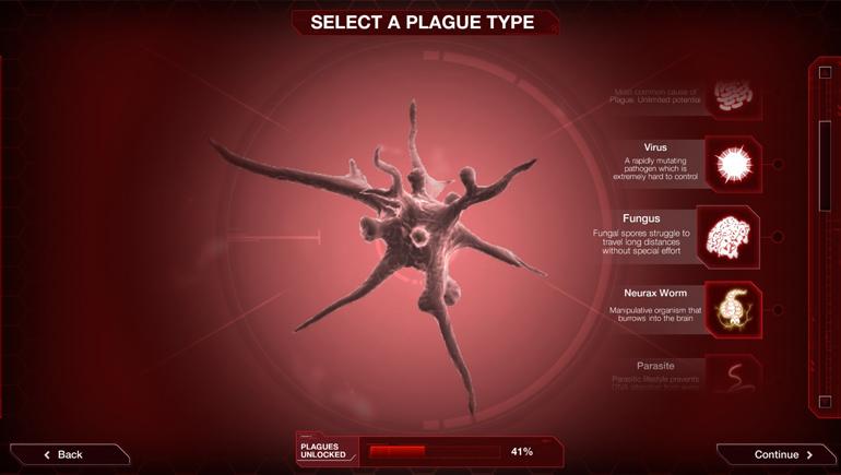 Oyunda ilerledikçe değişik salgın türleri kullanımınıza sunuluyor.