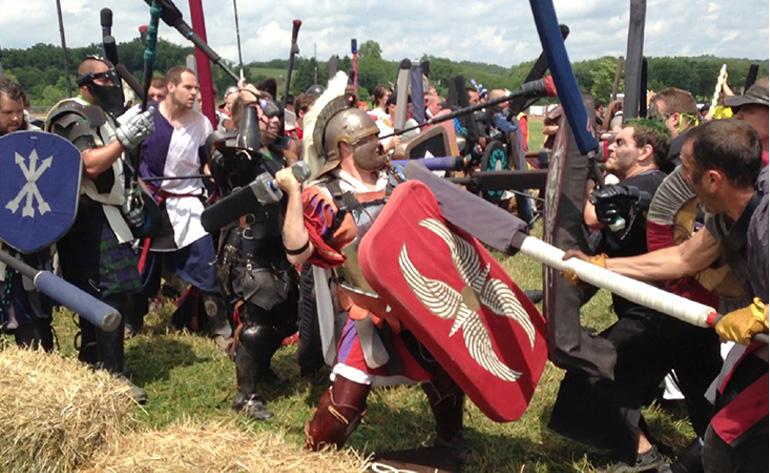 Dagorhir oyunlarından bir sahne.