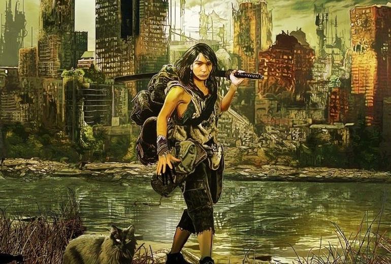 Ablamız elinde katanasıyla, dünyanın yıkıldığı bir ortamda kedisiyle hayatta kalmaya devam eder...