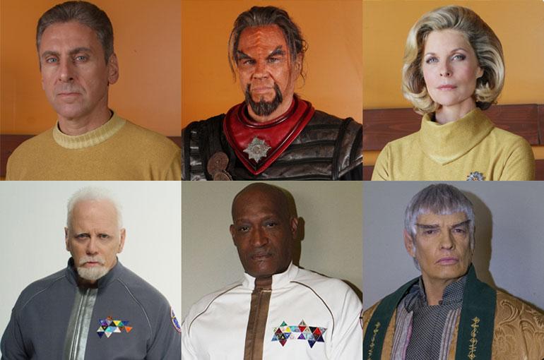 Kaptan Kelvar Garth, Kharn the Undying, Kaptan Sonya Alexander, Kaptan Samuel Travis, Amiral Marcus Ramirez ve Büyükelçi Soval