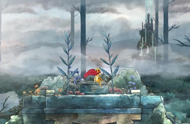Aurora, karanlık bir ormanda, sunak taşının üzerinde uyanır...