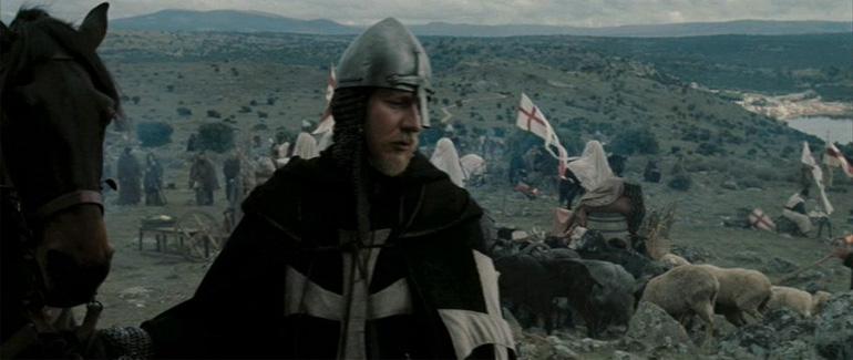 David Thewlis'in Kingdom of Heaven'da canlandırdığı savaşçı rahip / Hospitaller