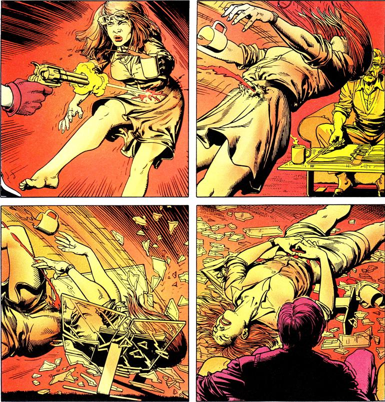 Barbara Gordon, Joker tarafından vurulduktan sonra tekerlekli sandalyeye mahkum olmuştur. Batman - Kliing Joke (1988)