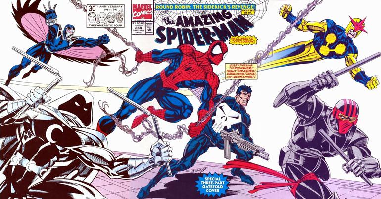 Amazing Spider-Man #353 - 358 arasında yayınlanan Secret Empire kapışmasına katılan efsane ekip.