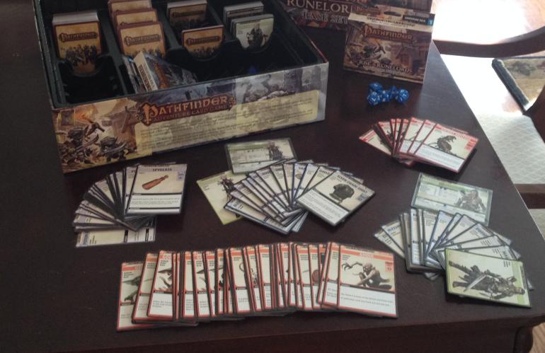 Pathfinder RYO için yapılmış kartlar.
