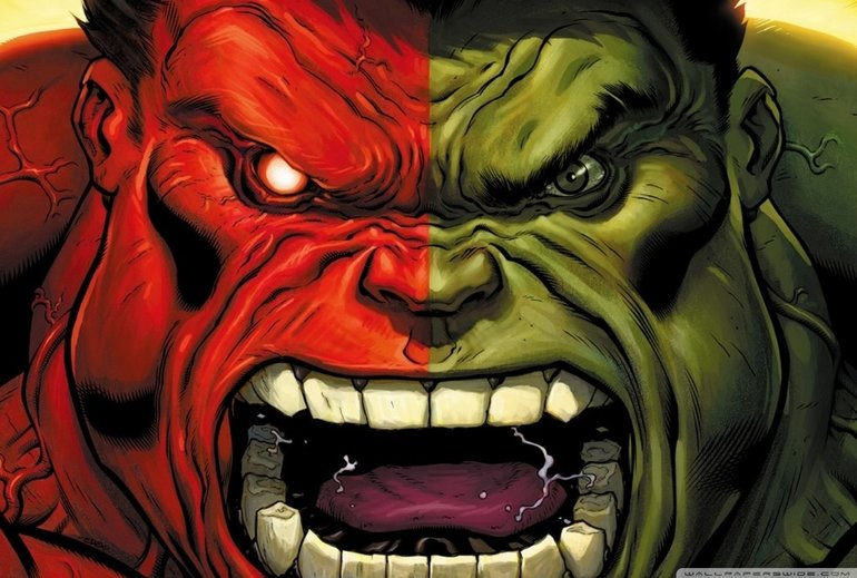 Mavi ya da Siyah Hulk yok mu?