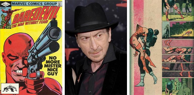 Daredevil'in ünlü rus ruleti sahnesinin olduğu #184 kapağı, Frank Miller ve Bullseye'ın Elektra'yı öldürdüğü sahne (#181)