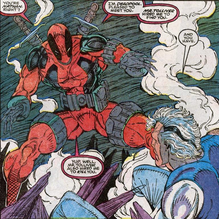 Cable'ın Deadpool'la ilk tanışması. New Mutants #98 (1991)