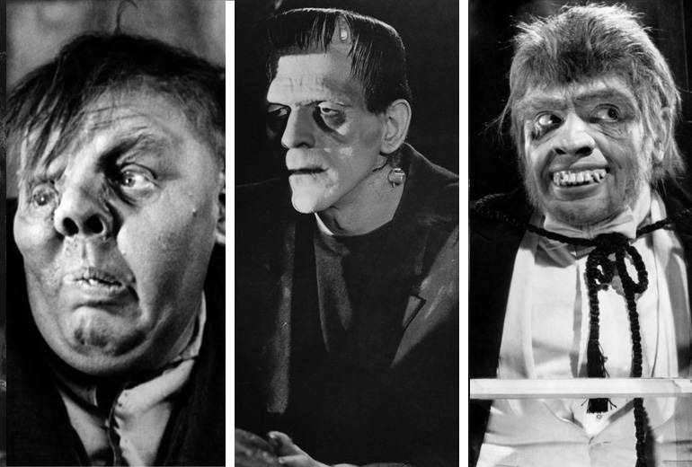Quasimodo, Frankenstein ve Mr Hyde.