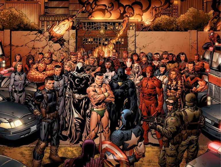 Gelmiş geçmiş tüm Avengers üyeleri bir arada.