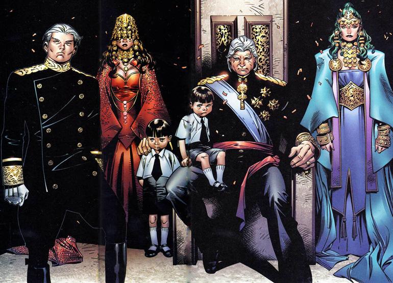 House of M'deki Quicksilver, Srarlet Witch, Magneto Polaris ve Wanda'nın ikizleri.