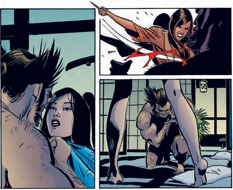 Wolverine ve Psylocke'nin karşılaşması (Neden çıplak oldukjlarını hiç sormayın).