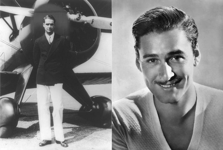 Tony Stark'ın kişiliğine ilham olan Howard Hughes ve görünüşünü aldığı Errol Flynn.
