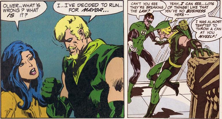 70'ler Green Arrow'undan iki farklı sahne...