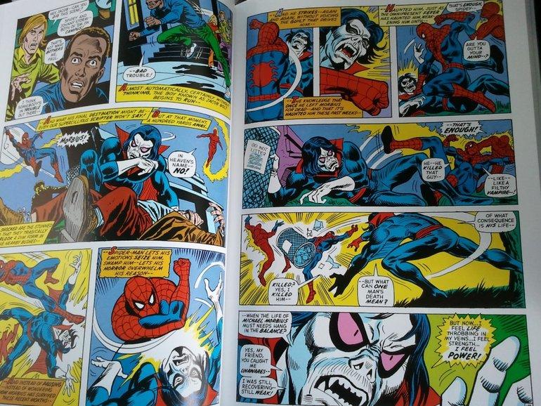 Team Up toplama serisi yukarıda göründüğünün aksine siyah beyaz ayrıca Morbius'u sevmeyen bizden değildir!