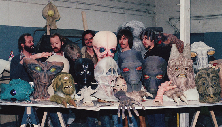 Tatooine'deki Mos Eisley Cantina sahnesinde kullanılan kostümler.