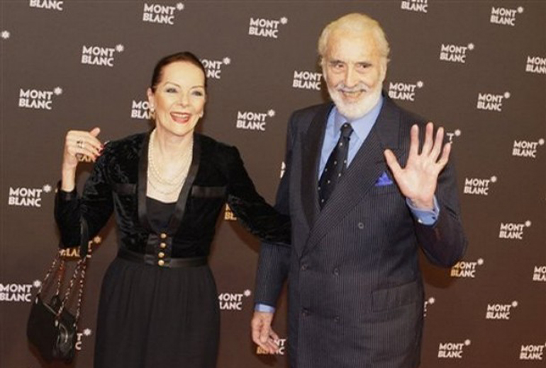 Christopher Lee ve eşi Birgit Krøncke.