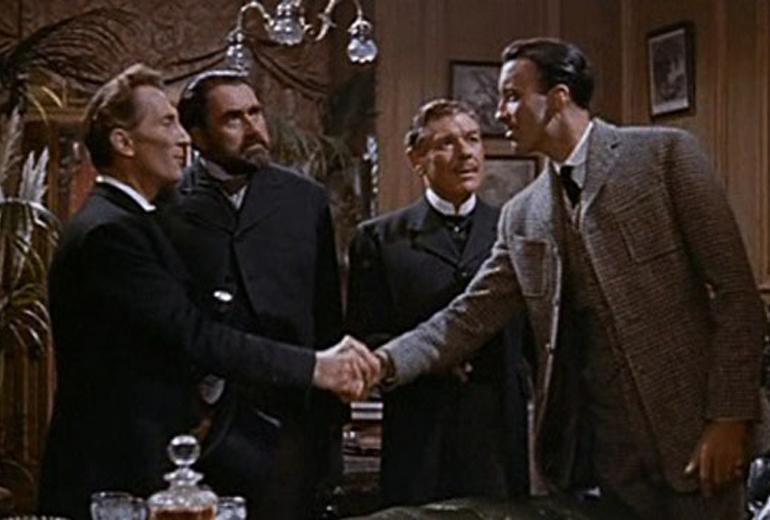 Hound of Baskerville'den bir sahne.