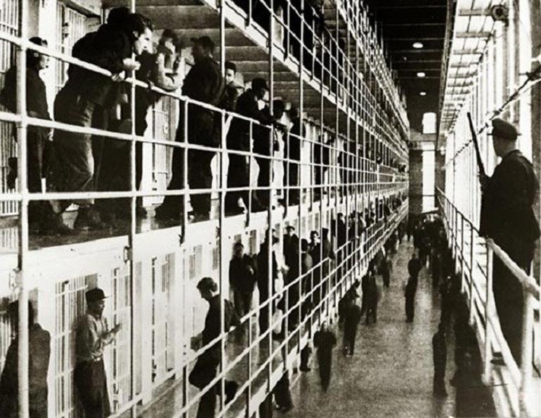 San Quentin Hapishanesi'nin içi