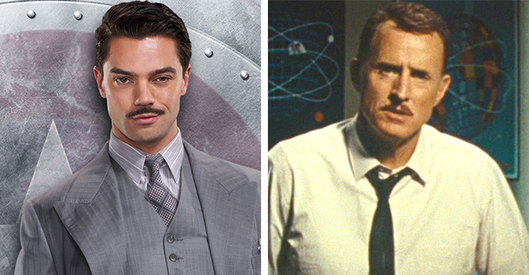 Howard Stark rolünde Dominic Cooper (Agent Carter - 2014) ve John Slattery (Iron Man 2 - 2010)