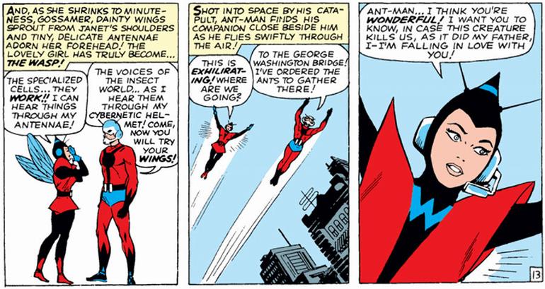 Wasp'ın ilk sayısı (Tales to Astonish #44 - 1963)