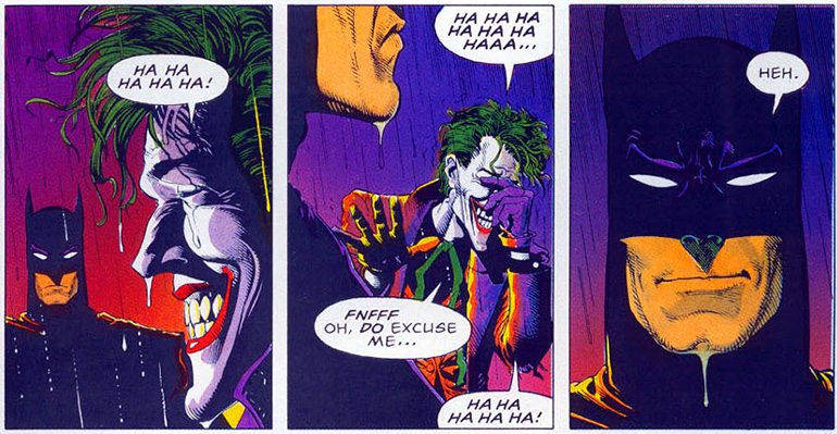 The Killing Joke'un unutulmaz final sahnesi.