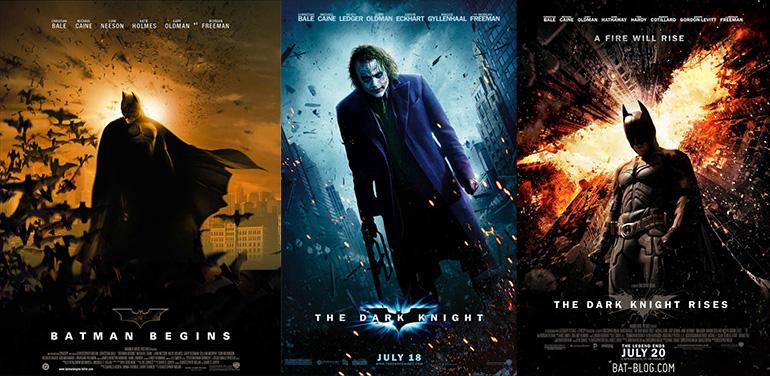 Batman Begins (2005), Dark Knight (2008) ve Dark Knight Rises (2012)