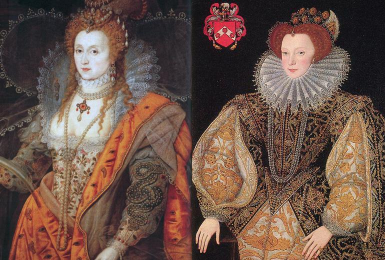 Kraliçe Elizabeth ve Laetitia Knollys.