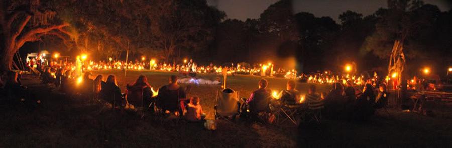 Günümüzde bir Samhain kutlaması.