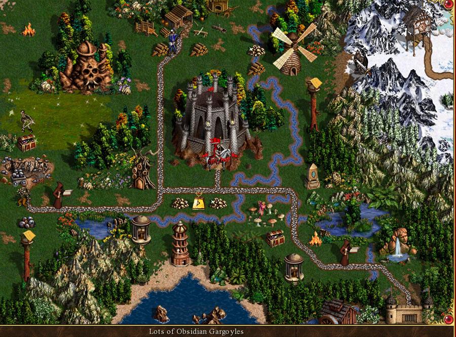 Dungeon kalesi, tasarım itibarıyla eski Warlock kalesine benzer ama yaratıkları tamamen farklıdır.