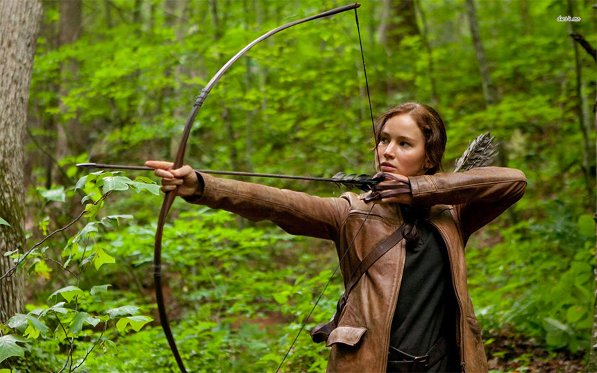Katniss Everdeen rolünde Jennifer Lawrence - The Hunger Games (2012)