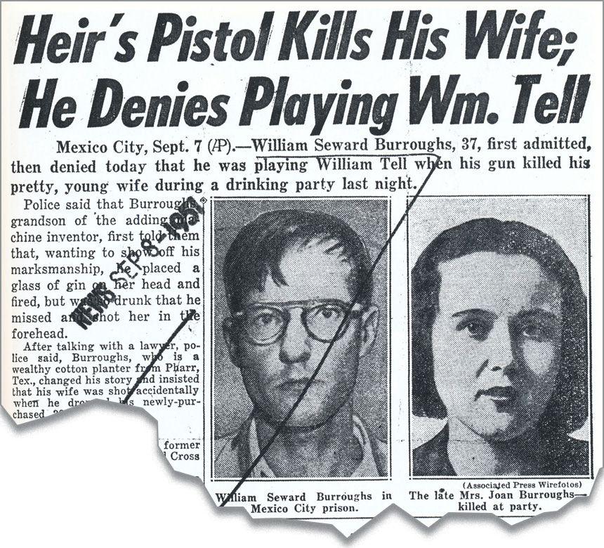 Joan Vollmer cinayetiyle ilgili gazete küpürü