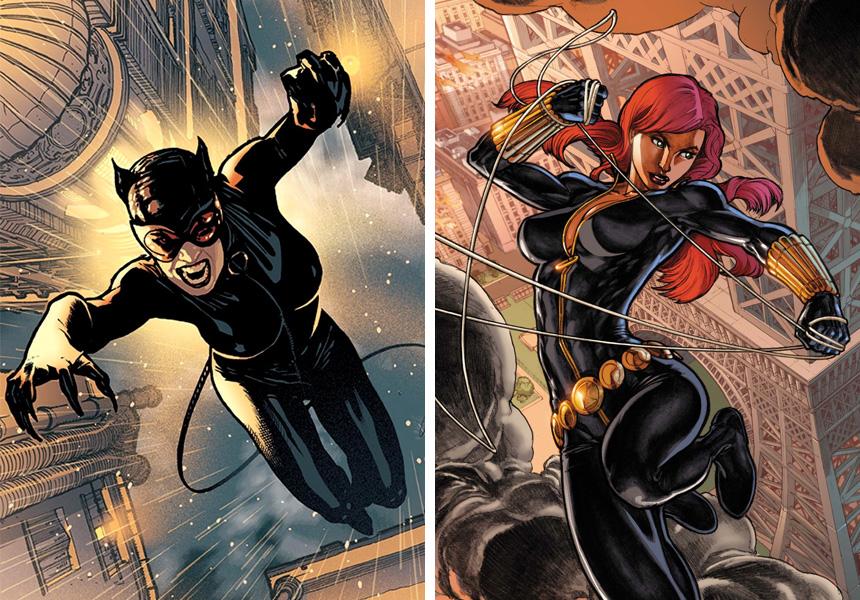 femme-fatale-catwoman-black-widow