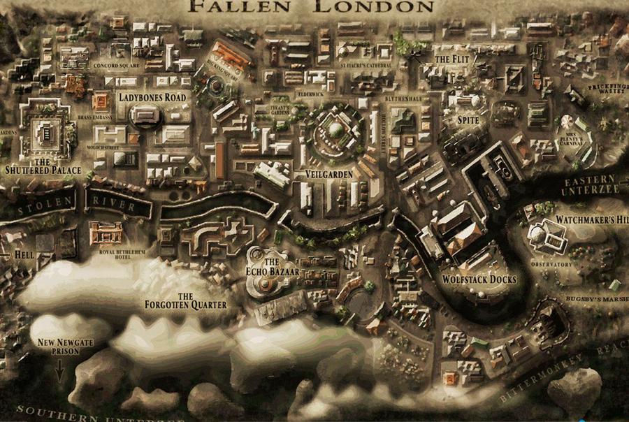 Fallen London'dan bir görüntü.
