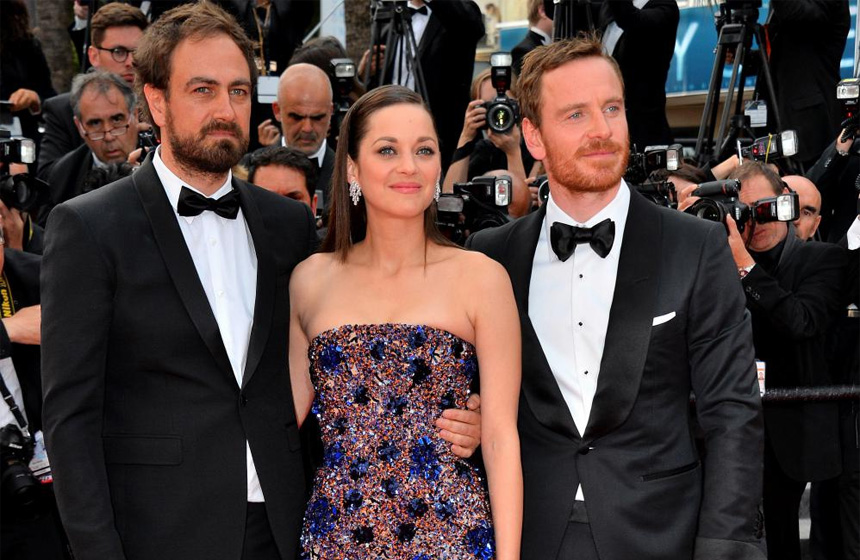 Yönetmen Justin Kurzel, Marion Cotillard ve Michael Fassbender Cannes'da