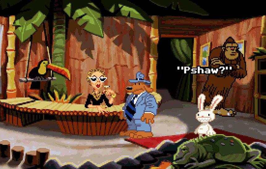 Bir Lucas Arts klasiği Sam & Max: Hit the Road oyunundan bir kare.