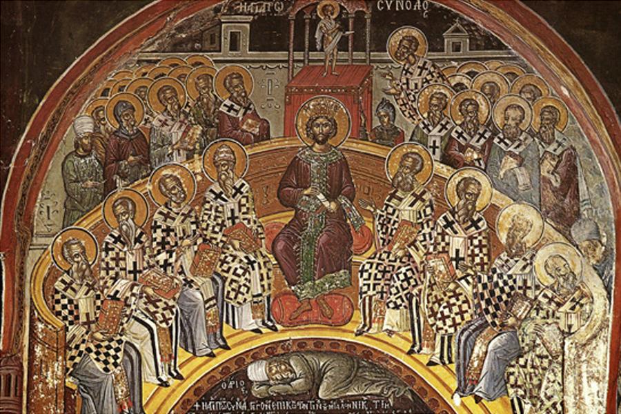 Council of Nicaea. Ortadaki abimiz ne kadar benziyor birine değil mi? Allah'ın işi işte.