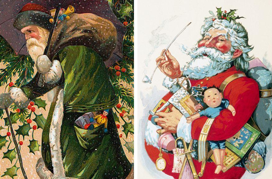 Yeşil cüppeli Santa Claus, Nast'ın çizdiği sefa pe_ehem, Noel Baba'ya karşı!