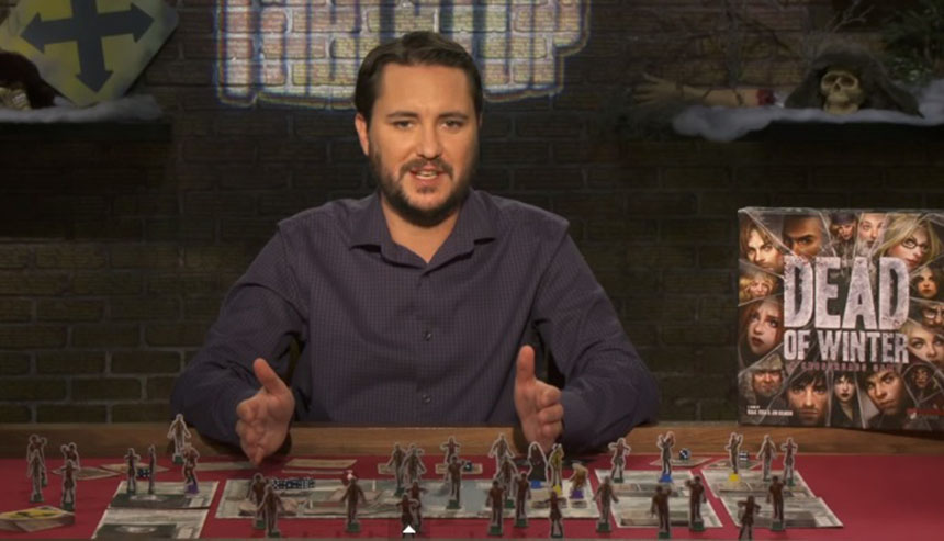 Will Wheaton Dead of Winter'ı tanıtırken.