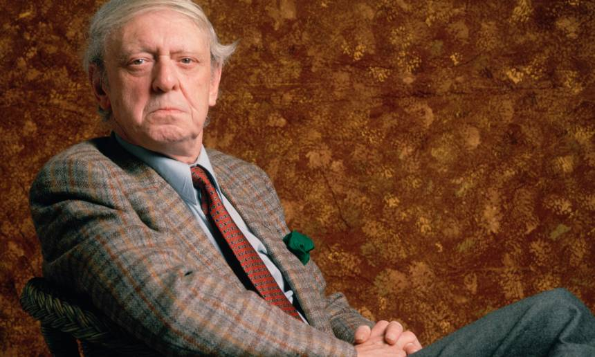 Paris march 1989. File photo: Anthony Burgess poses during promotion in france. Photo by Ulf Andersen / Getty images