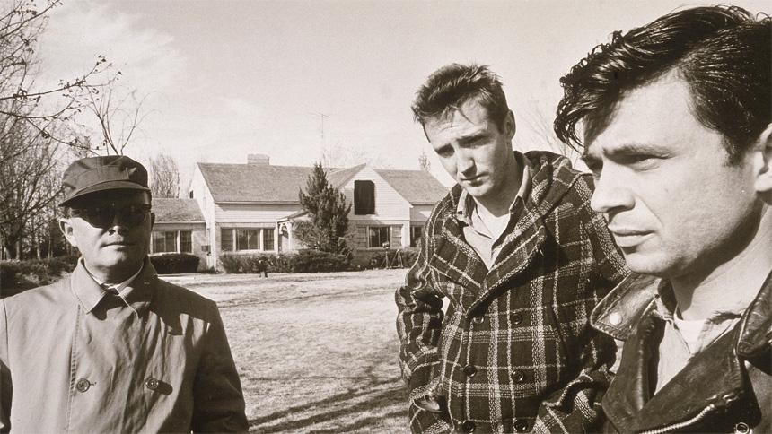 Yazar Truman Capote ile katiller Perry Edward Smith ve Dick