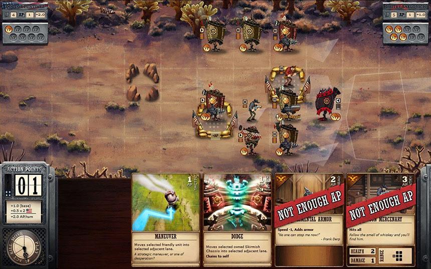 Ironclad: Tactics'in savaş ekranı.