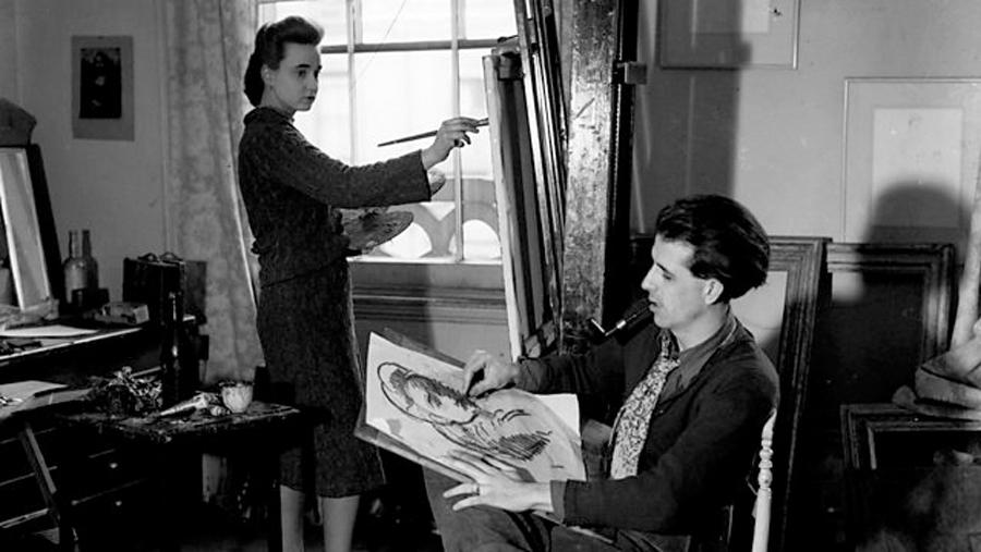 Mervyn Peake ve eşi Maeve Gilmore.