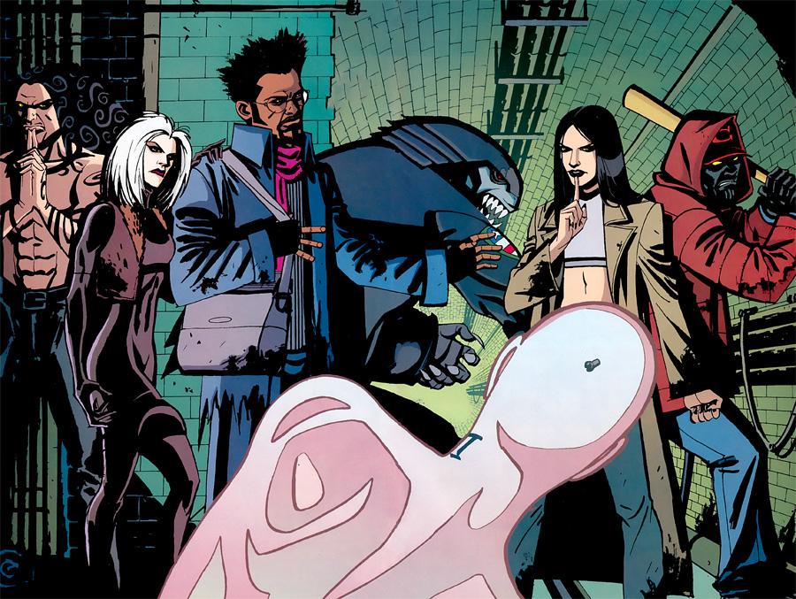 Morlocks 2002 - Soldan Sağa: Trader, Electric Eve, Postman, Litterbug, Angel Dust, Shatter ve en önde Cell