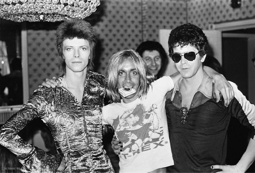 Soldan sağa: David Bowie, Iggy Pop ve Lou Reed