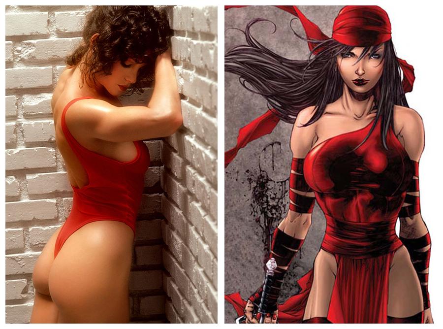 Elektra'ya ilham veren Lisa Lyon.