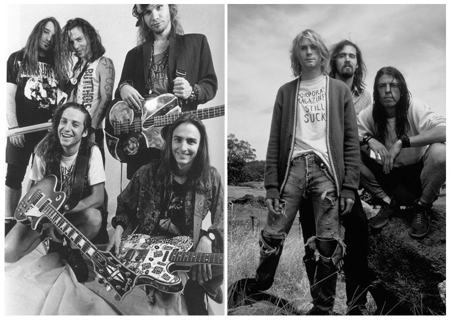 Pearl Jam ve Nirvana.