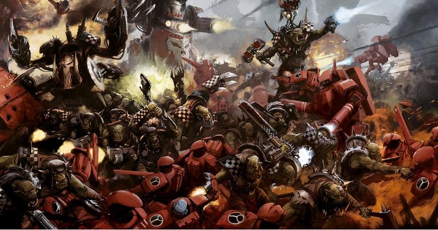 Baltalar elimizde, shootalar belimizde, biz gideriz savaşa hey savaşa... WAAAAAAAAGH!